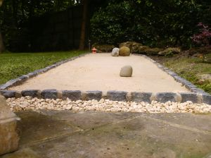 My nearly completed Zen garden - in a small space and constructed for comparitively little cost. Why don't you build one?!